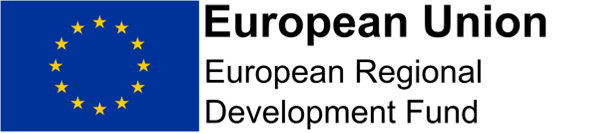 This image shows the logo for the European Regional Development Fund.