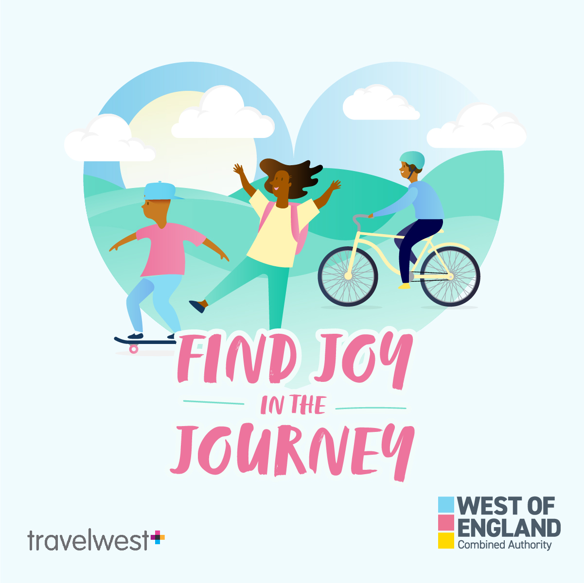 This image shows a graphic of the Find Joy In The Journey campaign