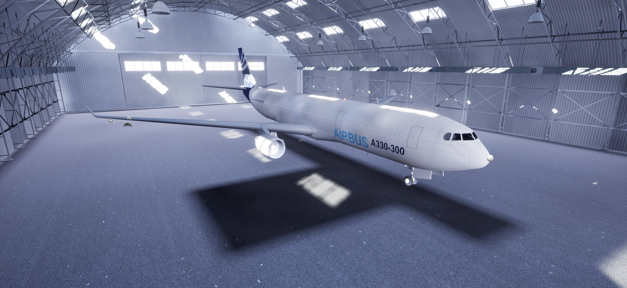 Image of an Airbus aeroplane for use with 3D motion tracking