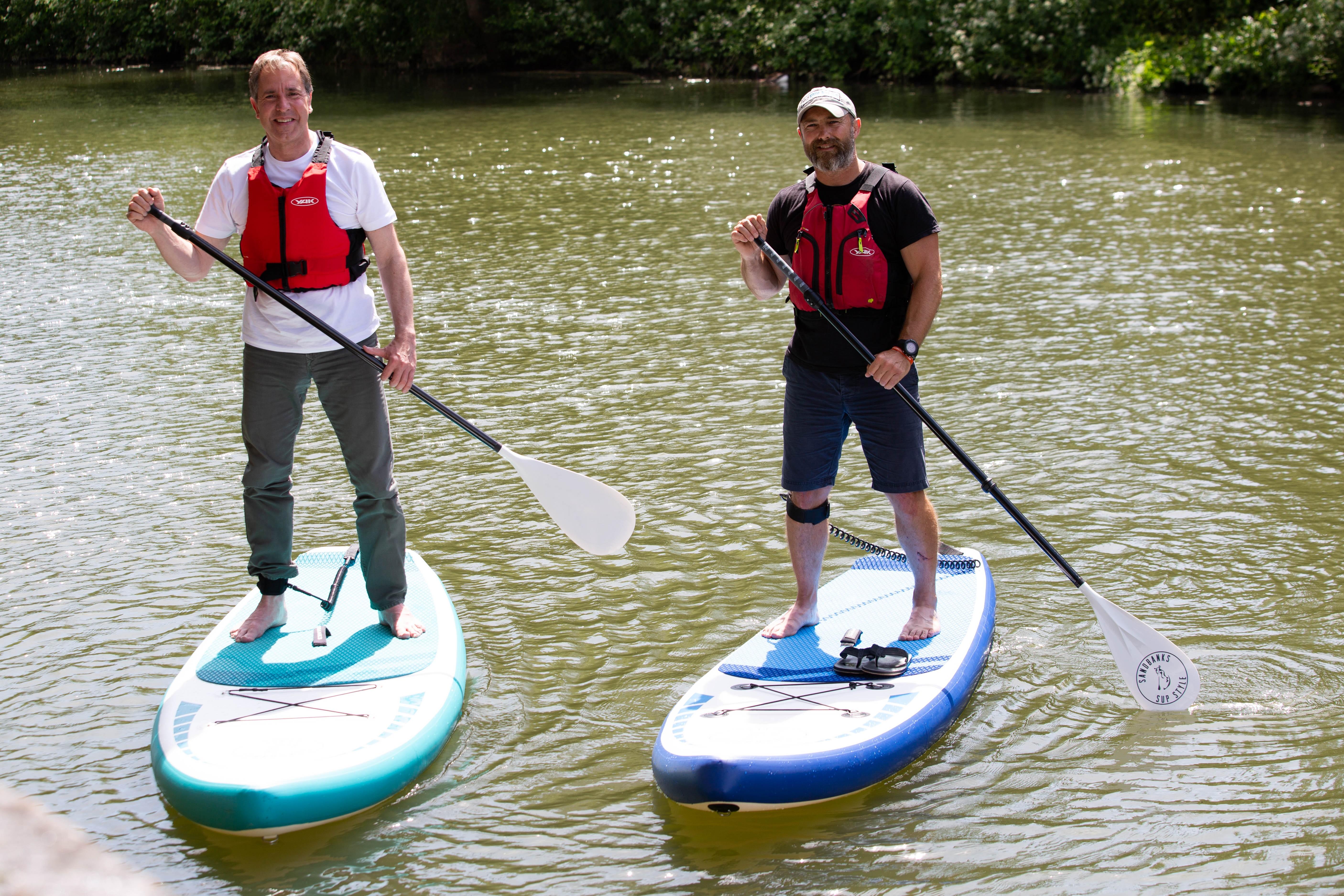 Metro Mayor on paddleboard with Darroch Davidson