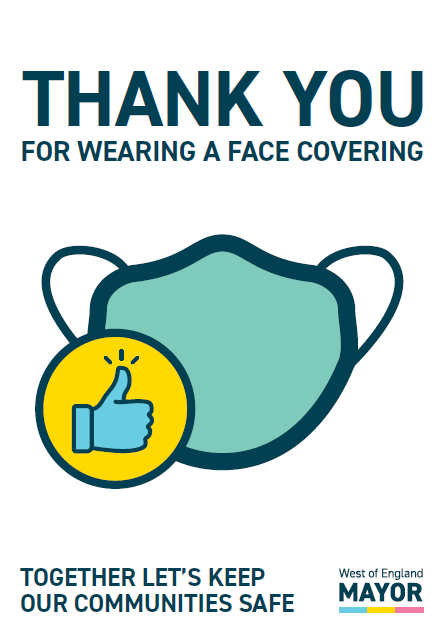 Poster to promote wearing a face mask