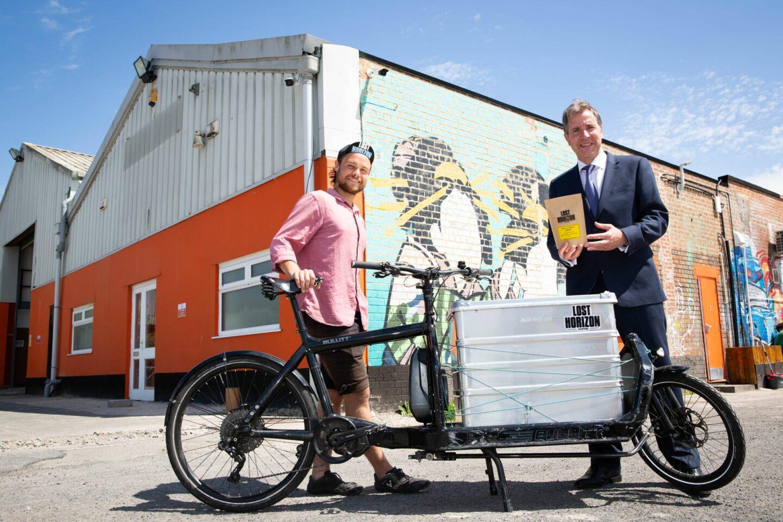 Cargo-bike delivery man with Dan Norris