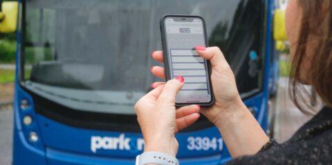 Mobile app for bus information