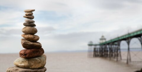 Pebbles by Clevedon Pier