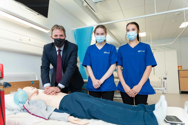 Dan Norris with healthcare professionals