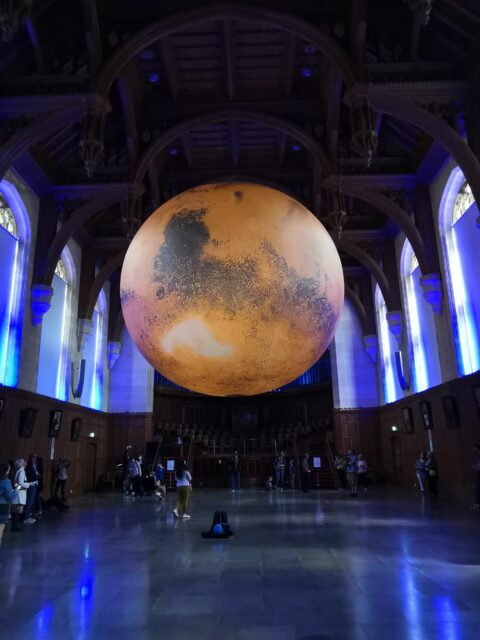 Luke Jerram's Mars at Wills Building University of Bristol
