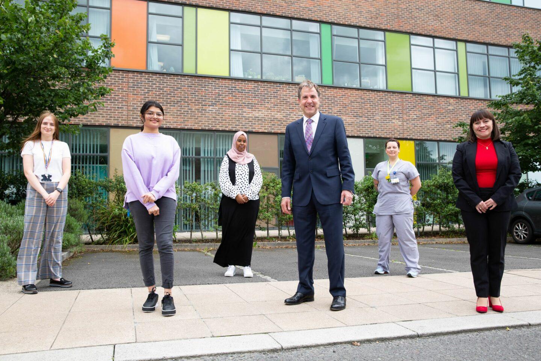 Metro Mayor stood with NHS employees outside Southmead hospital