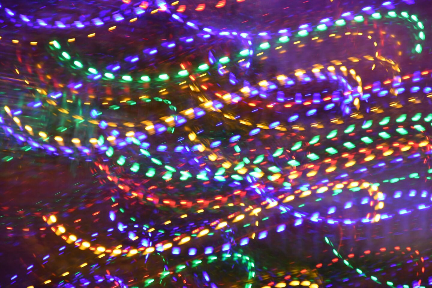 Strings of coloured lights