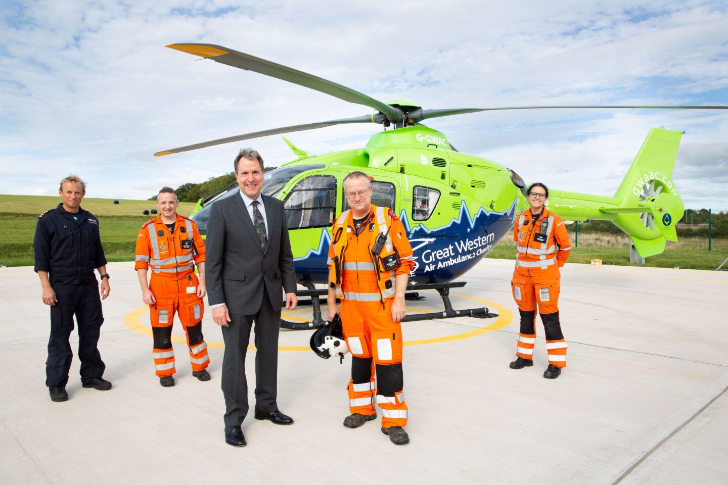 Dan Norris with the Great Western Air Ambulance Charity
